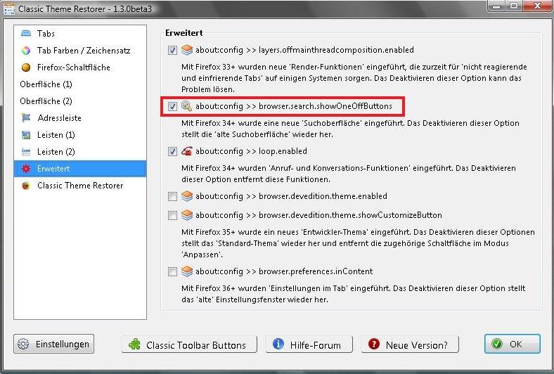 Alte Suchleiste wieder herstellen - Firefox Allgemein - camp