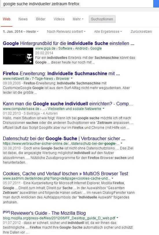 Google hintergrundbild firefox
