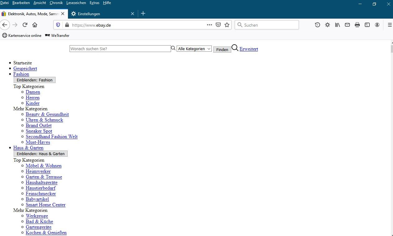 Webseite Wird Nicht Richtig Angezeigt Firefox