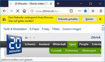 Webseite Verlangsamt Browser